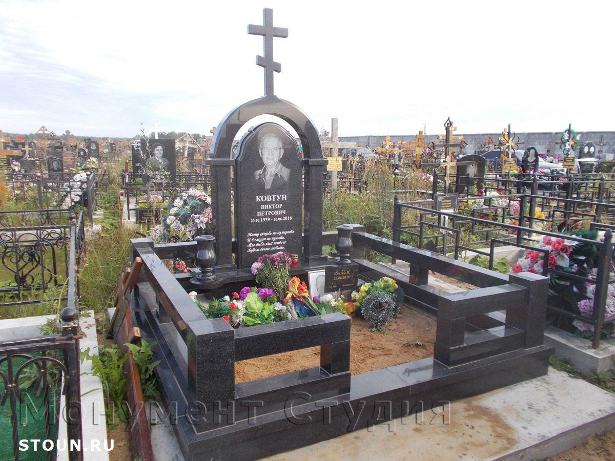 пример цоколя на могиле